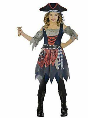 Amscan Castaway Cutie Pirate Costume, Girl's Small, 4-6 Blue, Grey - Pirate Cutie Costume