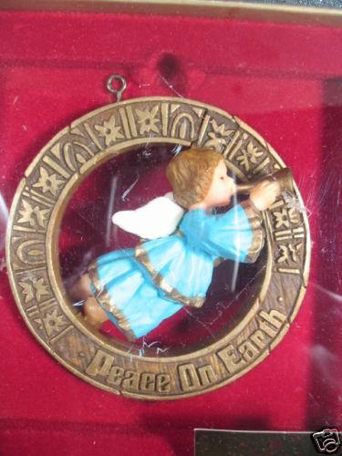 Hallmark Ornament 1979  NOSTALGIA ANGEL  w/ Box Angel blowing Horn