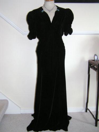 413d097ace 1930s Evening Dress