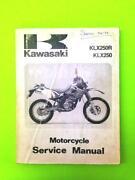 Kawasaki KLX250 Manual