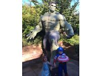 Hire Life Size Movie Accurate Marvel Hulk & Iron Man Superhero Statues For Parties Events Promotion