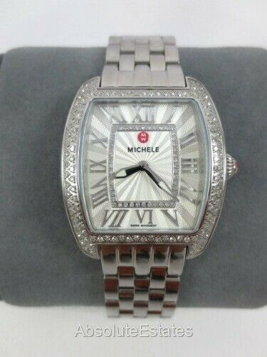 Michele Urban Mini Silver Diamond Ladies Watch MWW02A000617