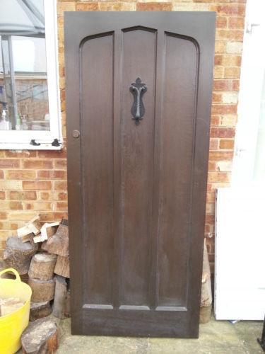 Solid Oak Doors Exterior : Solid oak front door ebay