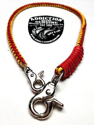 - Handmade Biker chain genuine braided leather, Trucker style wallets made in USA