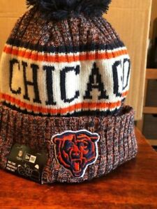 6d56bfc3 2018 Chicago Bears Era NFL Knit Hat on Field Sideline Beanie Stocking Cap