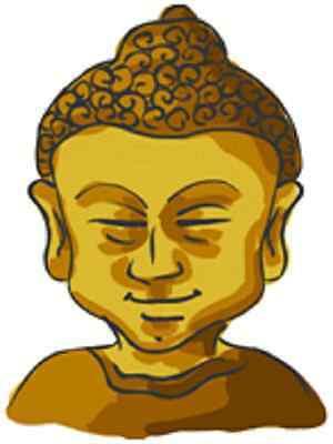 30 Custom Buddha Personalized Address Labels