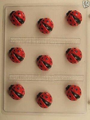 LADYBUG BITE SIZE CLEAR PLASTIC CHOCOLATE CANDY MOLD AO208 (Ladybug Candy)