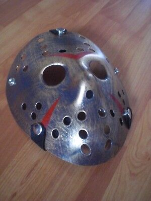 – Original Jason Voorhees Hockey-Maske Old Metal (Jason Voorhees Original Maske)