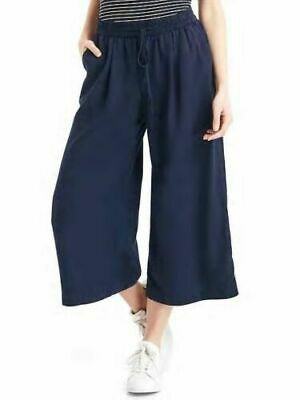 Gap Women's Tencel Drapey Culottes Size S- Dark Night- NWT