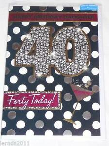 40th Birthday Card Ebay