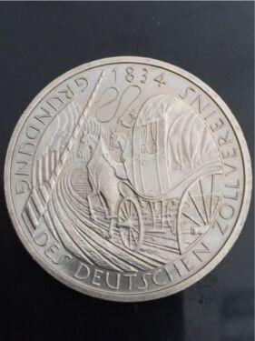 Münze 5 Deutsche Mark Brd 1984 Gründung Des Deutschen Zollvereins In