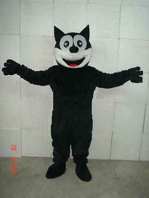 Top Selling Black  the Cat Mascot Costume for party  Facny Dress Adult Size Hot