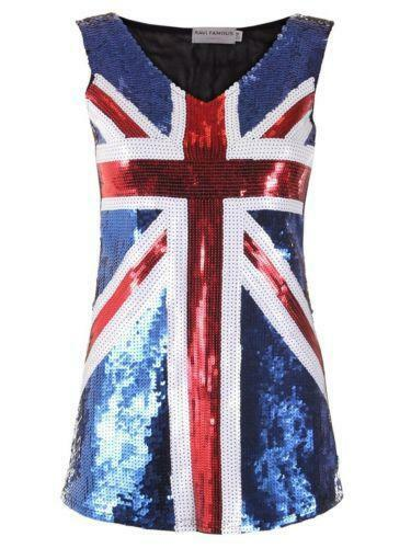 Sequin Union Jack Dress - eBay