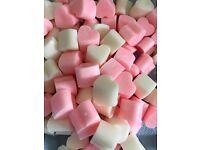 100 mini heart wax melts
