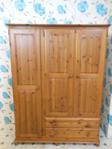 Used Solid Wood Wardrobe Ebay