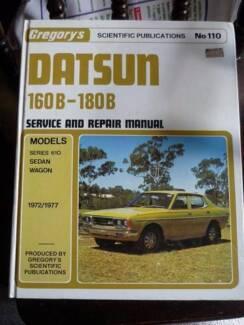 DATSUN 160B - 180B Service and repair Manual Reservoir Darebin Area Preview