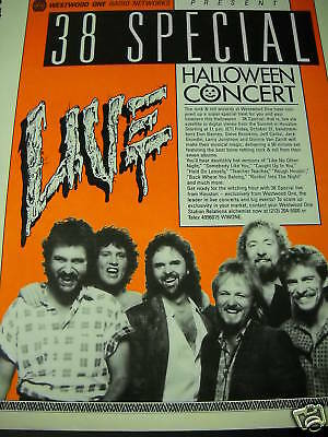 38 SPECIAL Live Halloween Concert 1986 PROMO POSTER AD - Halloween Live Concert