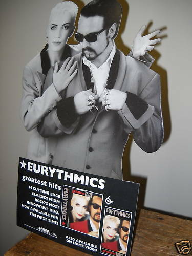 EURYTHMICS 1991 Rare Easel Backed PROMO DISPLAY Stand-up mint condition