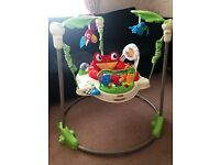 GREAT FISHER PRICE BABY JUMPEROO 3MONTHS UP BOYS/GIRLS RAINFOREST GREAT CONDITION