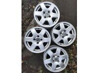 14 Inch VW Alloys, approx 1 year old Mint Condition