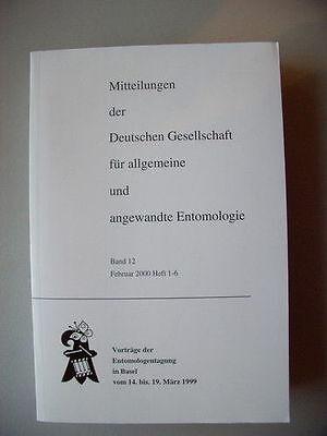 Mitteilungen für allgemeine angewandte Entomologie 1999 Insektenkunde