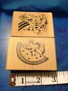 Watermelon Rubber Stamp