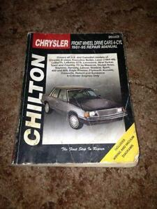 Chiltons manual for Chrysler front wheel drive models 81 to 95 Edmonton Edmonton Area image 1