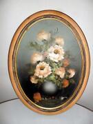 Framed Flower Oil Paintings