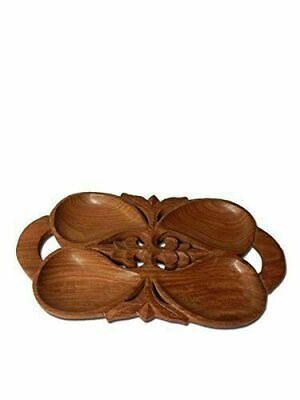 Wooden Sheeshem Wood Multiporpose 12 Leaf dryfruits Sweets Tray Diwali Gift Item