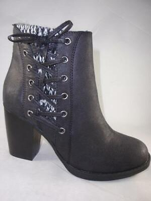 RAMPAGE Pamina Black Women's Ankle Boots Knit Zip Up Dress Booties NEW (Womens Steampunk Boots)