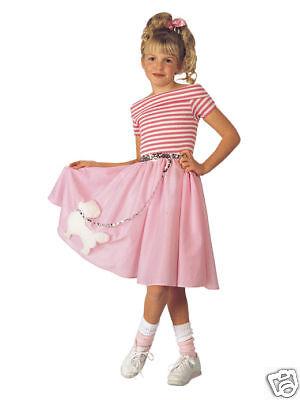 NIFTY FIFTIES GIRL'S HALLOWEEN COSTUME MEDIUM 8-10 SOCK HOP DANCE POODLE DRESS (Fifties Costumes For Girls)