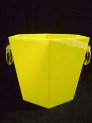 Drum Ice Bucket ABS Yellow Design Buganza Vintage Modern Antiques