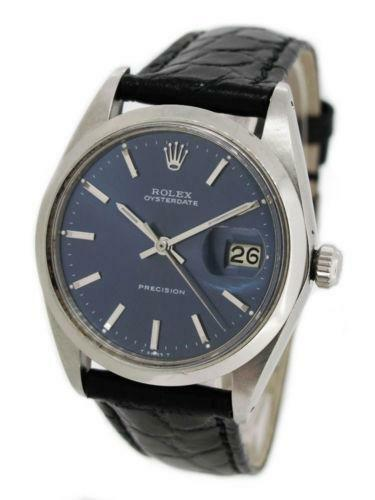 rolex oysterdate precision wristwatches ebay. Black Bedroom Furniture Sets. Home Design Ideas