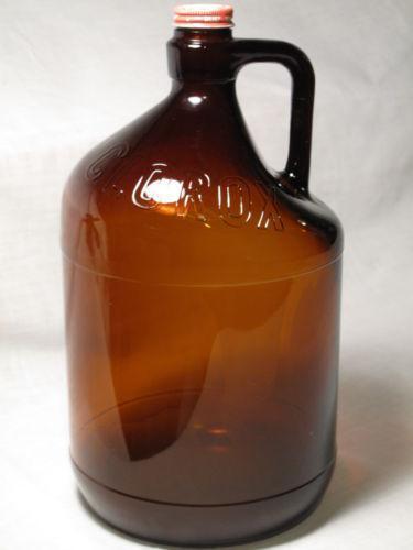 Brown Glass Clorox Bottle