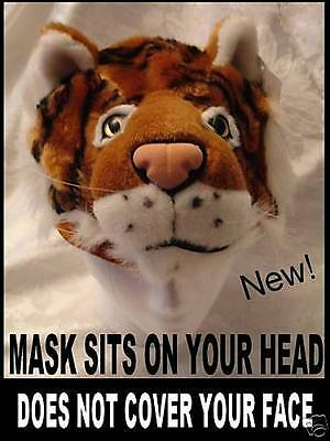 USH head mask ADULT does not cover your face US SELLER Fast! (Tiger Head Kostüm)