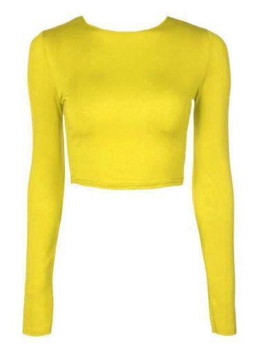 Yellow long sleeve t shirt ebay for Yellow long sleeved t shirt