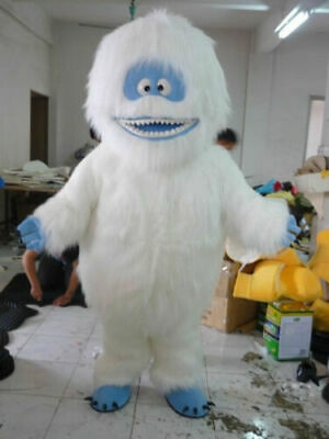 Yeti Abominable Snowman Mascot Costume Suit Halloween Party Game Cosplay - Yeti Costumes Halloween