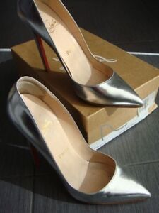 Christian Louboutin pigalle silver 120mm- size 38.5 Keysborough Greater Dandenong Preview