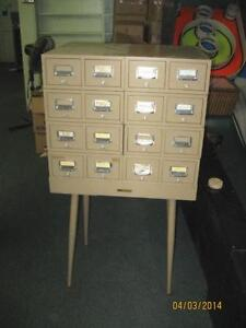 Library Card Catalog File Cabinet