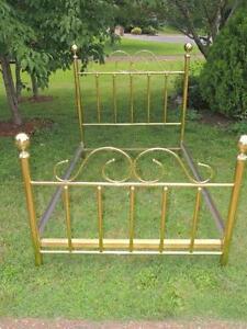 full antique brass beds