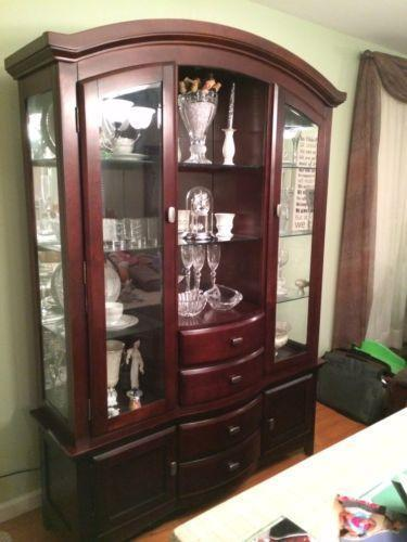 Cherry China Cabinet | EBay