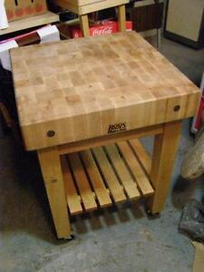 Merveilleux Used Butcher Block Table