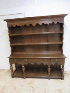 Antique Oak Hutch