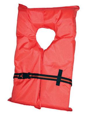 Type II Orange Life Jacket Vest PFD - Adult Universal - US Coast Guard Approved Coast Guard Approved Type