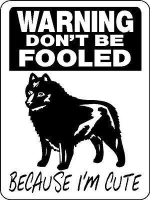 SCHIPPERKE  GUARD DOG ALUMINUM SIGN  D3156