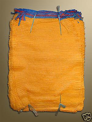 10 Raschelsäcke,Brennholz Säcke ,Kartoffelsäcke 25 kg mit Zugband 50 x 80cm