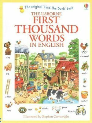 Usborne First Thousand Words In English Children Book By Heather Amery