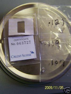 ONE 99.95  PLATINUM 1+ GRAIN BULLION.FROM CREDIT SUISSE BAR