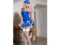 Blue Sailor Fancy Dress Outfit - Size 14