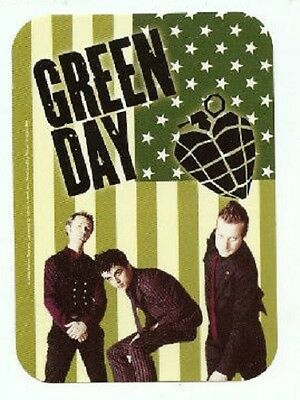 GREEN DAY - STICKER - Flag Band Heartnade - 3x2 inches - Licensed New